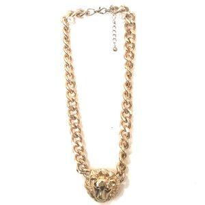 Faux Lion Gold Necklace